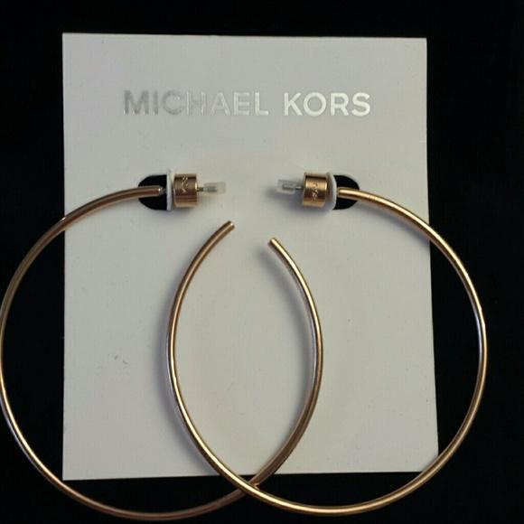 3f0a3c7cda0a5 Michael Kors NWT Rose Gold Hoop Earrings